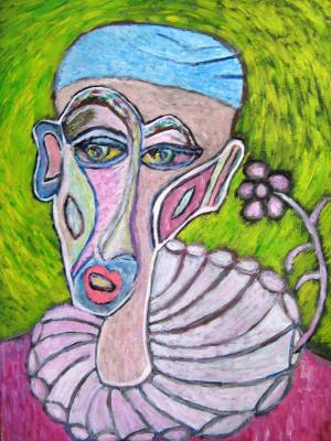 "Tatyana Turanova. Painting ""White Clown"""