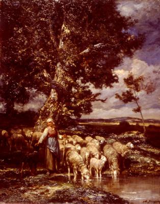 Шарль Эмиль Жак. Пастушка