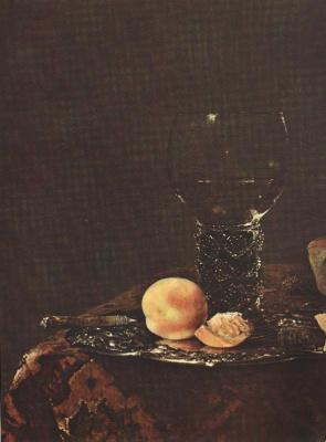 Виллем Кальф. Натюрморт с персиком
