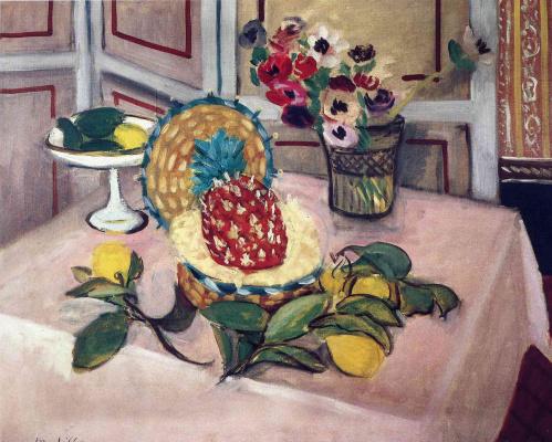 Анри Матисс. Натюрморт с цветами и ананасом