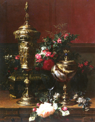 Jean-Baptiste Robey. Still life with a German Cup