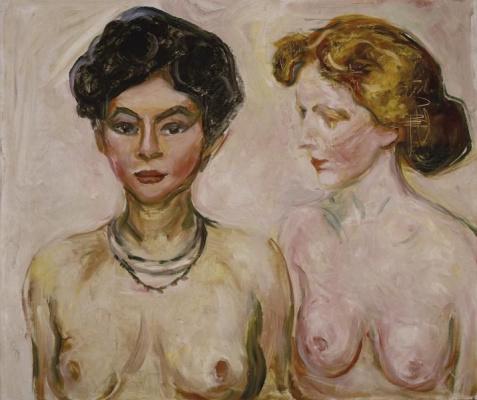 Edvard Munch. Nude brunette and blonde