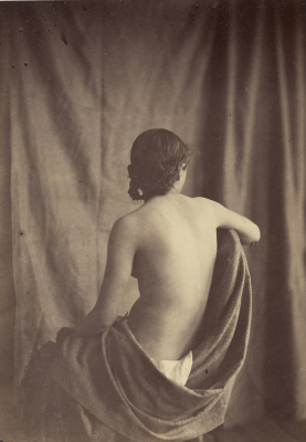 Model (draped cloth Nude girl)
