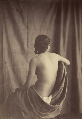 Model (draped cloth Nude girl)