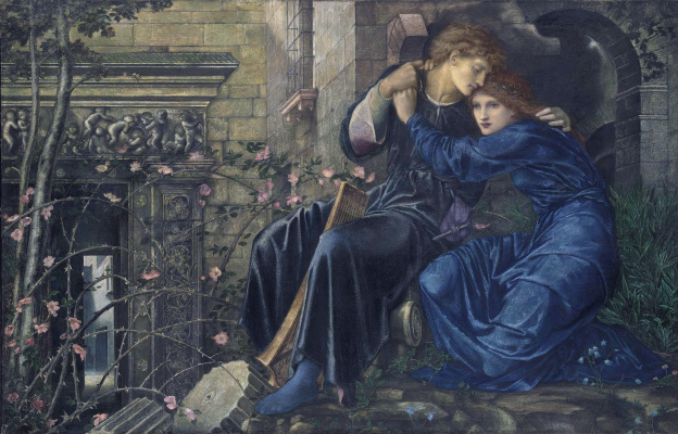 Edward Coley Burne-Jones. Love among the ruins