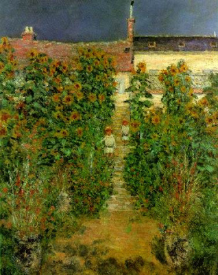 Claude Monet. Garden of the artist in Vetee
