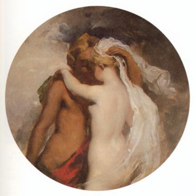 Etty William. Nymph and Satyr