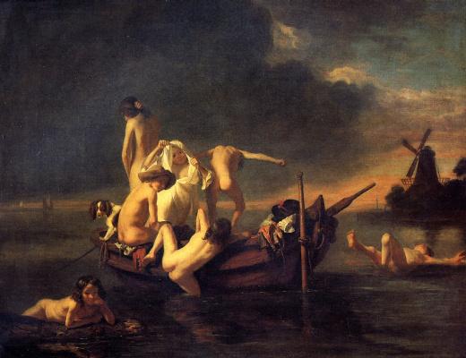 Nicholas Mas. Bathing boys