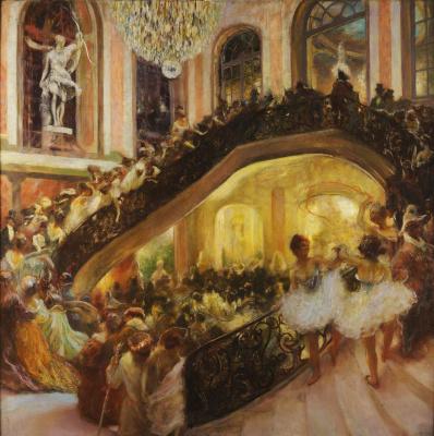 Gaston la Touche France 1854 - 1913. Ball-masquerade.