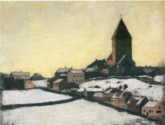 Edvard Munch. The old Church in Acker