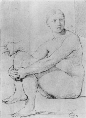 Jean Auguste Dominique Ingres. Study of a model for Illion