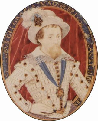 Николас Хильярд. Портрет английского короля Иакова I