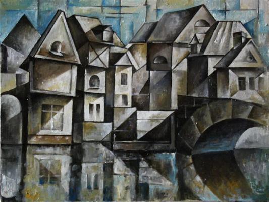 Vasily Vyacheslavovich Krotkov. Bruges. Kubofuturizm