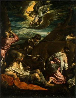 Jacopo da Ponte Bassano. The Annunciation to the shepherds