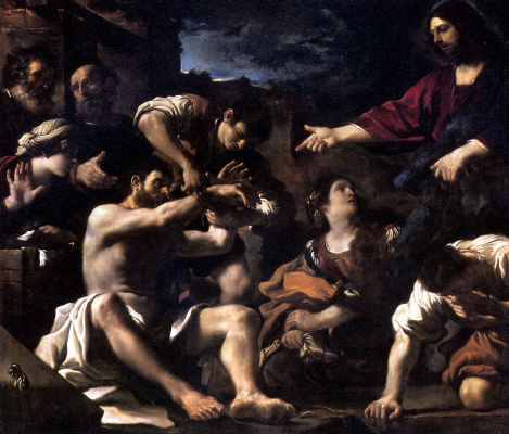 Barbieri Giovanni Francesco. The Resurrection Of Lazarus