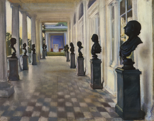 Zinaida Serebryakova. Cameron gallery in Tsarskoye Selo