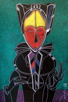 Виталий Викторович Котенджи. African Mask Character