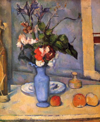 Paul Cezanne. Still life with blue vase