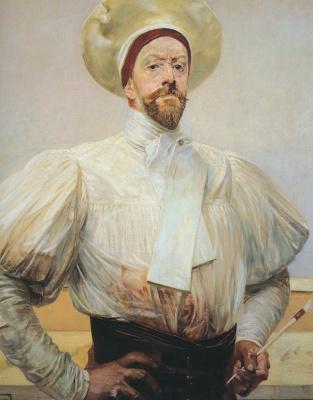 Jacek Malchevsky. Self portrait in white