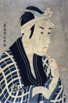 Тосюсай Сяраку. Актер Мацумото Косиро IV в роли торговца рыбой Горобэя