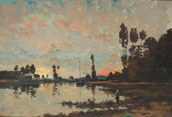 Шарль-Франсуа Добиньи. Закат на Уазе