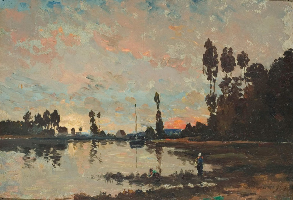 Charles-Francois Daubigny. Sunset on the Oise