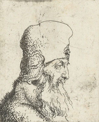Jan Livens. A bearded man in a high hat