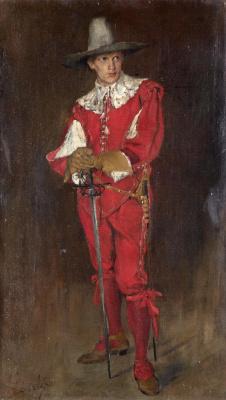 Филип Аликсис Де Ласло. Cavalier in red. 1890