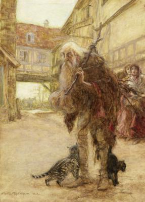 Arthur Rackham. Witch