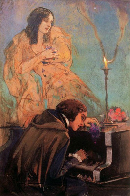 Ivan Grigorievich Myasoedov. Frederic Chopin and George Sand