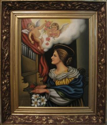 Ядвига Сенько. Святая Цицилия - икона католическая (холст,масло)
