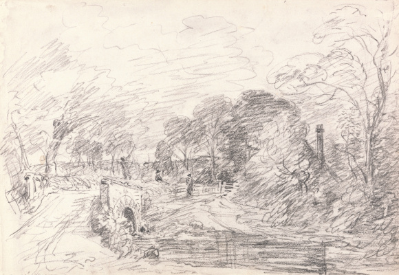 John Constable. A Bridge near Salisbury Court, Perhaps Milford Bridge