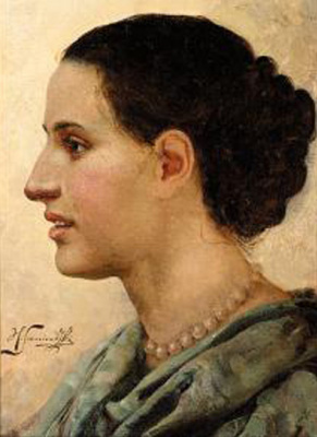 Генрих Ипполитович Семирадский. Портрет девушки