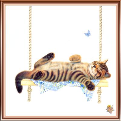 Джон Мартинес. Спящий полосатый кот