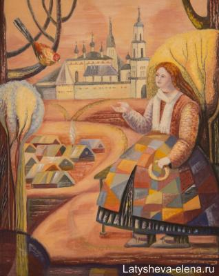 Elena Alekseevna Latysheva. At the white pond