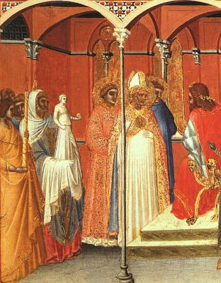 Pietro Lorenzetti. Sabinus before the Governor