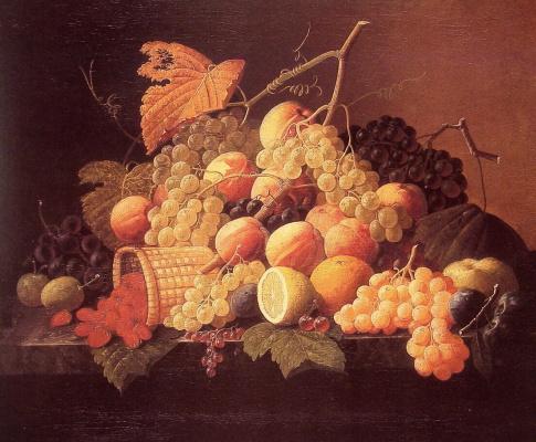 Severin Rosen. Still life with fruits