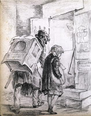 Vasily Grigorievich Perov. The organ grinder