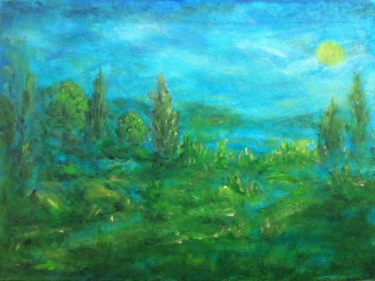 Рита Аркадьевна Бекман. Ночь. Зимний дождь в Галилейских горах