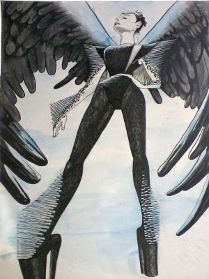 Olga Suncheleeva. Black Angel