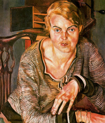 Stanley Spencer. Pensive woman
