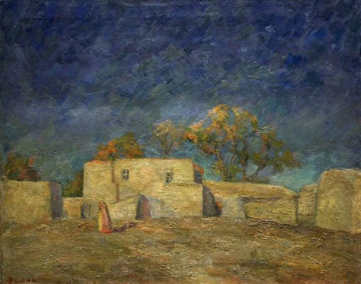 Robert Rafailovich Falk. Golden wasteland. Samarkand