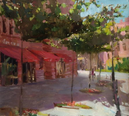Sergey Nikolayevich Don. Summer day on Lev Tolstoy Square