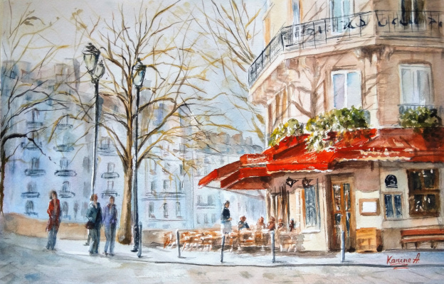 Karine Andriasyan. Spring morning in Paris