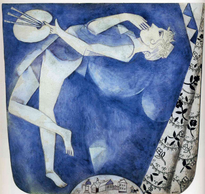 Marc Chagall. Artist: the moon
