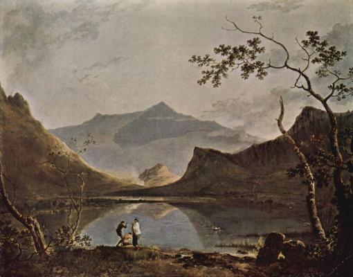 Ричард Уилсон. Горный пейзаж с озером