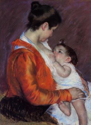 Mary Cassatt. Louise breastfeeding her baby