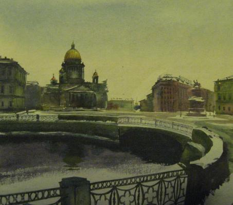 Олег Николаевич Юдин. Исакиевская площадь