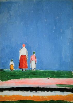 Kazimir Malevich. Three figures in a field