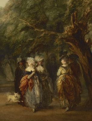 Thomas Gainsborough. A walk in St. James's Park. Fragment
